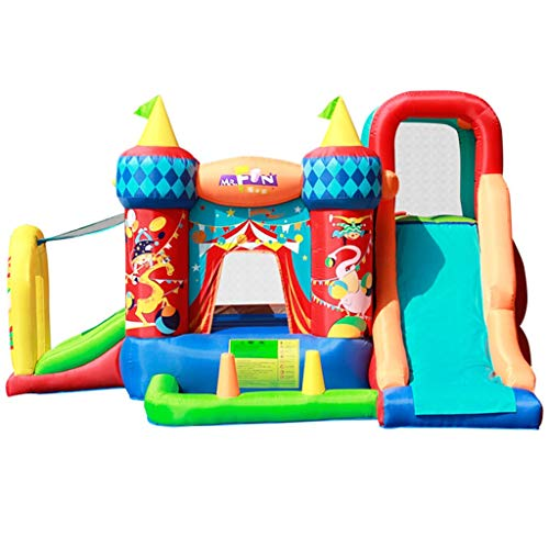 Sports Toys Indoor Children's Bouncy Castle Household Toy Slide Children's Inflatable Trampoline Summer Outdoor Amusement Park Boys And Girls' Park Playground ( Color : Color , Size : 360*300*210cm )