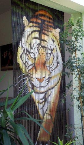 Unbekannt Bambustürvorhang Bambusvorhang Türvorhang Tiger II ca. 115x220cm (BxH)
