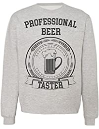 Professional Beer Taster Cool Certificate Design Sudadera Unisex