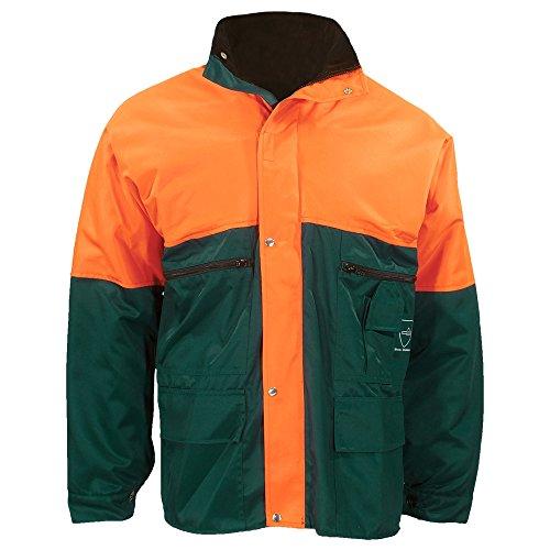 Feldtmann Schnittschutzjacke Grün-Orange