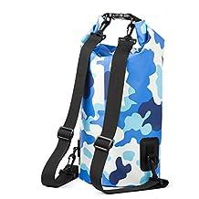 ... Premium bolsa impermeable Roll Top bolsa seca con correas de hombro duales para Rafting Kayaking Náutica Pesca Natación Playa Piscina Senderismo Camping ...