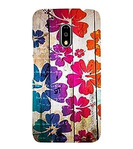 Takkloo flower on pattern wood theme pattern,nice pattern, trendy pattern) Printed Designer Back Case Cover for Motorola Moto G4 Plus