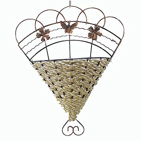 Weave Vine Mural Wall Hanging Artificial Flower Plant Basket Flower