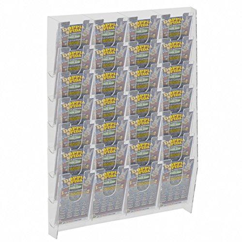 Avà srl espositore schedine e gratta e vinci da parete in plexiglass trasparente a 28 tasche