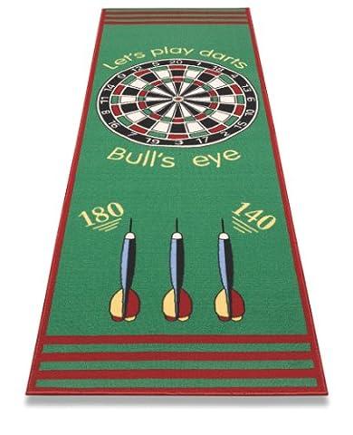 Tapis de jeu de très bonne qualité - Jeu de Fléchettes - Bulls' Eye - Cible. 79 x 237 cm. Fabriqué en Europe.