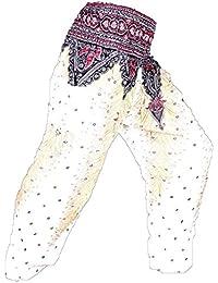 Sarouel Femme Blanc Pantalon Ethnique Aladin Harem Pant Boho Aladdin Hippie  Yoga White 90bc918d49c