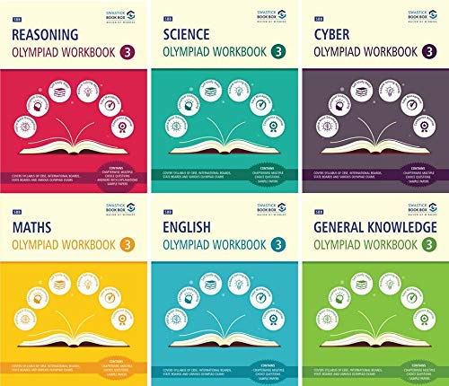 Reasoning, Maths, Science, Cyber, English & GK Olympiad Workbook Combo - Class 3