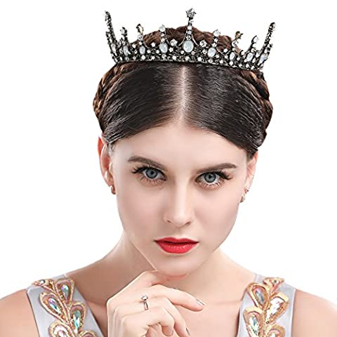 Chicer Baroque Vintage Wedding Crown Bridal Tiara boutique headdress