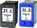 2 CARTUCCE COMPATIBILE PER HPDeskjet F2100 F2110 F2120 usato  Spedito ovunque in Italia