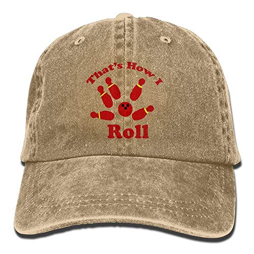 Naiyin That's How I Roll Bowling Denim Hat Adjustable Womens Classic Baseball Caps -