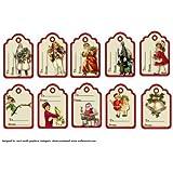 Juego de 10etiquetas de regalo de Navidad Vintage por Carol Smith