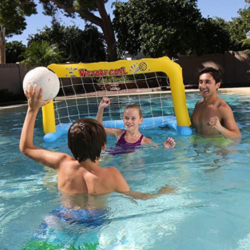 LIJUEZL Aufblasbare Beach-Toys-Kinder Eltern-Kinder-Pool-aufblasbarer Volleyball, Basketball Stand Handball Wassersport,B