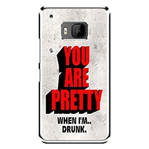 "MOBO MONKEY Designer Printed 2D Transparent Hard Back Case Cover for ""HTC One M9"" - Premium Quality Ultra Slim & Tough Protective Mobile Phone Case & Cover"