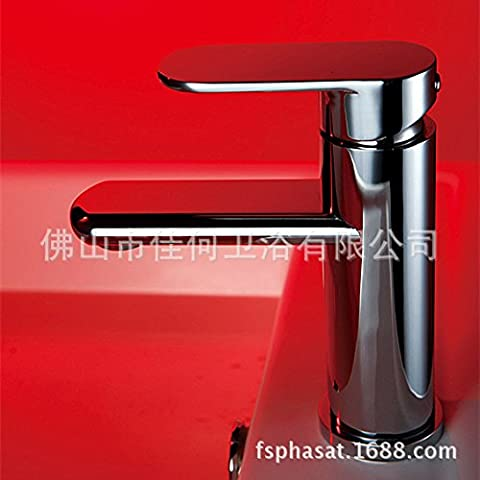 Cuivre ovale bassin robinet à levier unique robinet chaud et