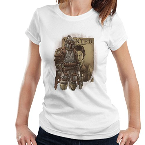 Bountsteam Hunter Boba Fett Star Wars Women's T-Shirt White