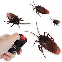 Newin Star Cucaracha telecontrol,Insecto telecontrol Falsas,Simulación Juguete RC Eléctrico Educativos Juguetes de Broma para Halloween (Cucaracha)