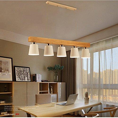 Lampada a sospensione zmh lampadario a sospensione plafoniera lampadina e27x 5 lampada da - Lampadari da interno ...