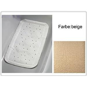 Badematte Badewannen-Einlage, Farbe: beige – Antirutsch-Einlage Sicherheitseinlage