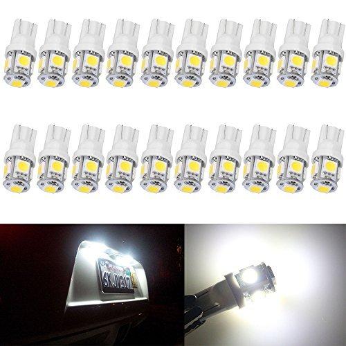 AMAZENAR 20-Pack T10 194 168 2825 W5W 175 158 Bianco 5050 5 SMD LED Light 24V, Illuminazione per Mappa Leggera Cupola di Luce Lampada Cortesia