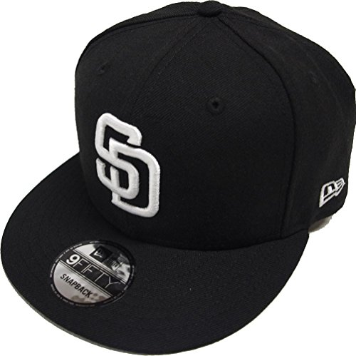 New Era San Diego Padres Black White Logo Snapback Cap 9fifty Limited Edition