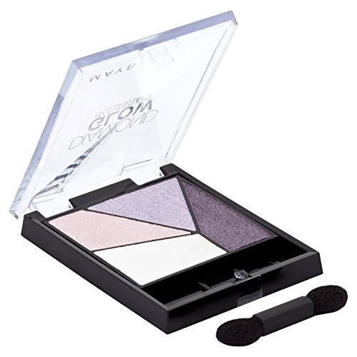 Maybelline New York Lidschatten Eyestudio Quattro Diamond Glow Palette Purple Drama 01/Eyeshadow Set in Lila-Tönen mit WET-Technologie, 1 x 3,7 g