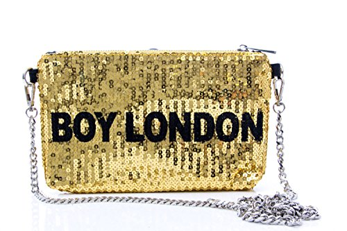 BOY LONDON BORSA DONNA POCHETTE PAILLETTES BLA-28 Oro