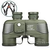 NOCOEX 10x50 Binocolo Marino per Adulti, Binocolo Militare Impermeabile con Bussola Telemetro BAK4 Prisma Lente FMC Antiappannamento per la Navigazione Birdwatching Caccia con Cinghia a Tracolla