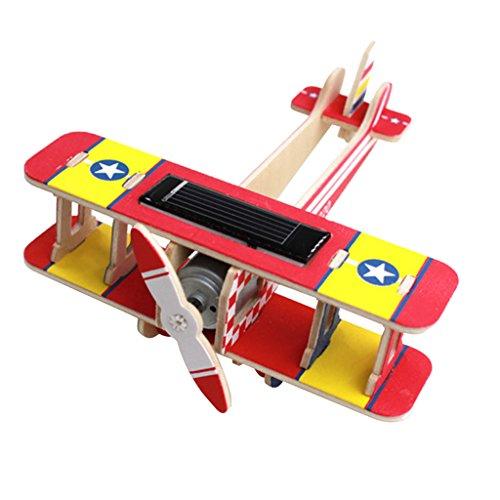 Baoblaze 3D DIY Rompecabezas de Madera Modelo Hecho a Mano de Aviones Solar Kits de Juguetes Regalos para Niños - # 5, como se Describe