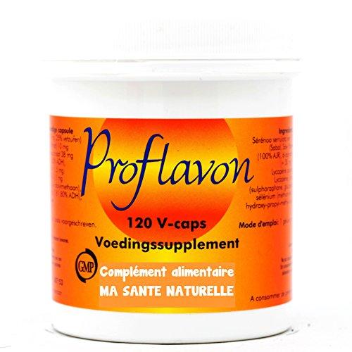 ProFlavon (Formel für die Prostata) 600mg (Palme Zwerg, Zink, Vitamin E Natur, Lycopin, Broccoli) 120pflanzliche Kapseln - Pflanzliche Prostata-formel
