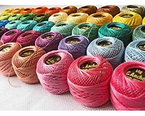 Ancre Coton Crochet 10 pièces Fil à broder Tissu de Frivolité Tricot Laine 37