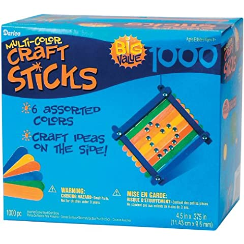 Brand New Jumbo Craft Sticks-Colored 4.5 1,000/Pkg Brand New by M1N4B5