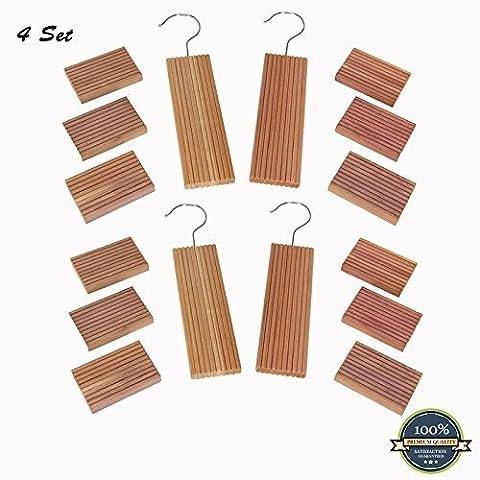 Huji Cedar Hang Ups and Cedar Moth Mildew Repellent Blocks (4) by Huji