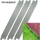 Winter & Bani Rasenkanten | 3 Stück | Metall | Gesamtlänge zusammengesteckt 3 Meter | Stabil Aber biegsam