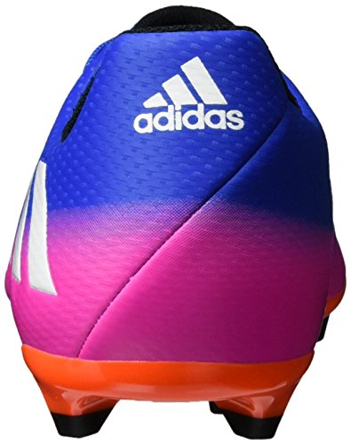 adidas Messi 16.3 Firm Ground, Scarpe da Calcio Unisex – Bambini Blu (Blue/ftwr White/solar Orange)