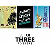Motivational Posters For Office And Study Room - Set Of 3 Inspirational Wall Quotes| Home Decor |Quotes Decorative Poster - B078Y5KZ4S