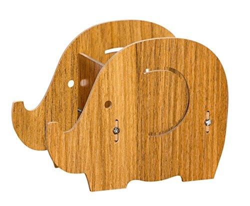 Holz Organizer für Make-up Pinsel, Lippenstifte und mehr, Handyhalter, Stift Aufbewahrungsbox von HECARE (S(6.29*3.14*4.33 inch)) (Billig Nagellack-organizer)