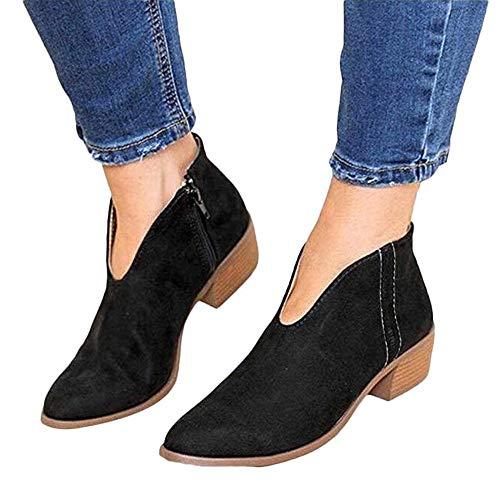 Sandalen Damen mit Absatz Leder 4 cm Blockabsatz Wildleder Geschlossene Schuhe Reissverschluss Sommer Frühling Schwarz 39