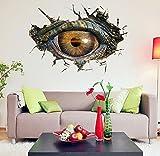 Wandtattoo Wand Jamicy® Große Dinosaurier Auge 3D Wandsticker Dekorative Kreative Entfernbare Wandaufkleber Wickelraum Für Kinderzimmer Wohnzimmer Toilette Küche (50*70cm)