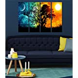 Printelligent Multiple Frames Wall For Living Room Wall Art Panels With Frame Printed Tree Painting Framed