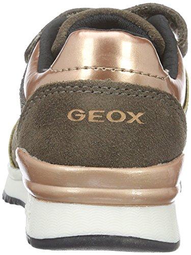 Geox J Maisie E, Baskets Basses Fille Beige (DK BEIGEC5005)