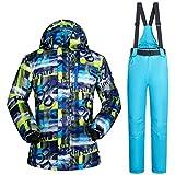 Zjsjacket Skijacke Winter Männer Ski Jacken Hosen Anzüge Wasserdichte Windjacke männlich Ski Snowboard Kleidung Herren Outdoor-Sport Skibekleidung-11,XXXL