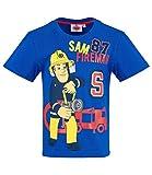 Feuerwehrmann Sam Jungen T-Shirt (Blau, 110)
