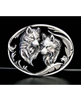Buckle with two wolves - Wolf - Wolves - Buckle