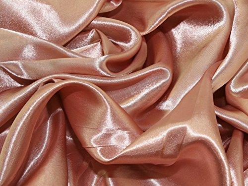 Liquid Satin Kleid Stoff Dusky Pink-Meterware + Frei Minerva Crafts Craft Guide Dusky Pink Satin