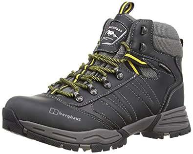 Berghaus Mens Expeditor AQ LeatherTrekking and Hiking Boots Black/Lemon Chrome 7 UK, 40.5 EU
