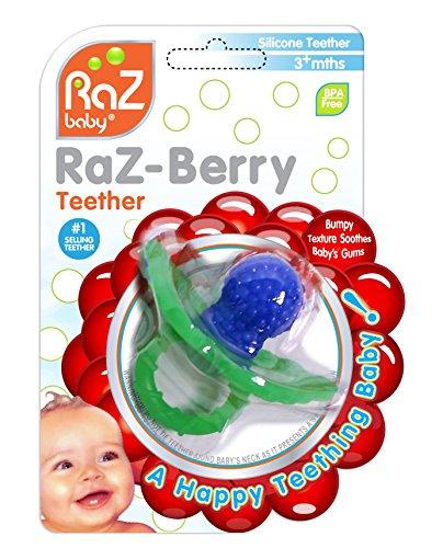 Preisvergleich Produktbild RAZBABY - RAZ-BERRY Teether - Schnuller - Zahnungshilfe BLAU