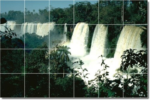 CASCADAS FOTO BACKSPLASH AZULEJO MURAL 15  17X 25 5CM CON (24) 4 25X 4 25AZULEJOS DE CERAMICA