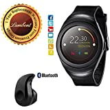 Lambent T11 Bluetooth Smartwatch With SIM/TF Card Support & S530 Wireless Headset With Mic For Android/iOS Devices (Color May Vary)