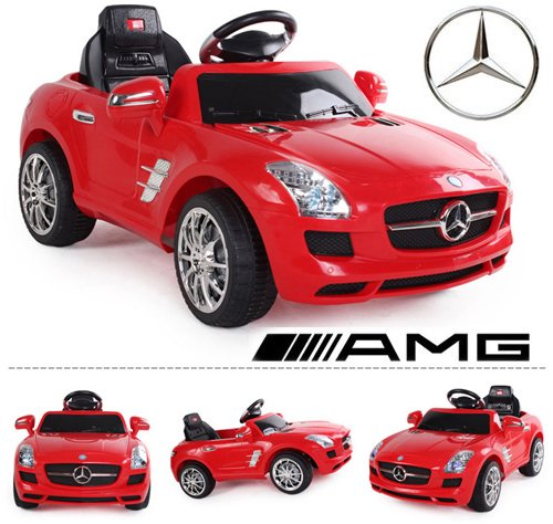 RC Kinderauto kaufen Kinderauto Bild 1: crooza *2X Motoren* Soft-Start Original Mercedes-Benz AMG SLS Lizenz Kinderauto Kinderfahrzeug (ROT)*