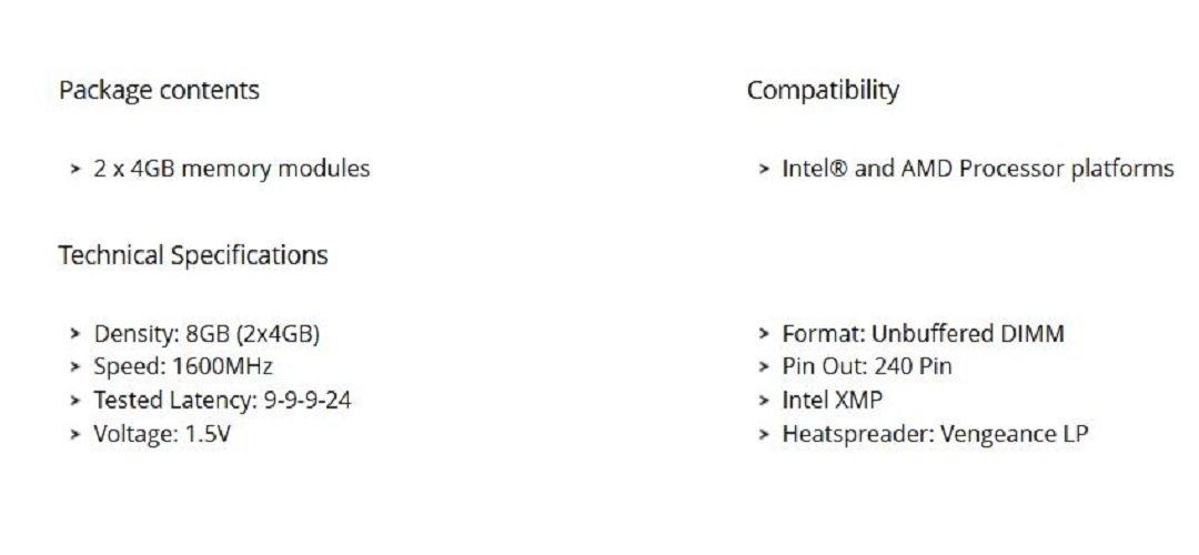Corsair-CML8GX3M2A1600C9-Vengeance-Low-Profile-8GB-2x4GB-DDR3-1600-Mhz-CL9-XMP-Performance-Desktop-Memory-Kit-Black